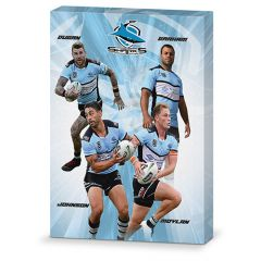 Cronulla Sharks 4-Player Canvas