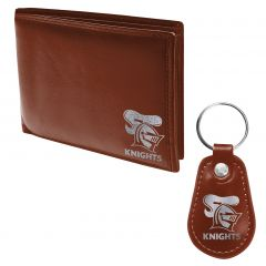 Newcastle Knights Pleather Wallet and Keyring Pack