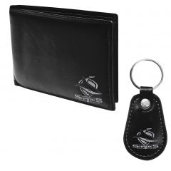 Cronulla Sharks Pleather Wallet and Keyring Pack