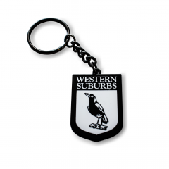 Western Suburbs Magpies Heritage Keyring