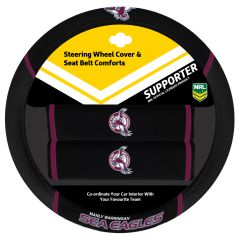 Manly Sea Eagles Steering Wheel Cover Set