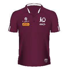 2020 QLD Maroons ADULTS Dark Scarlet Polo