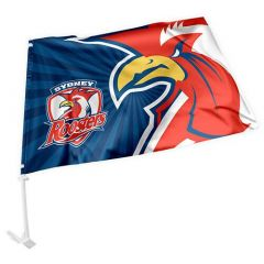 Roosters car flag