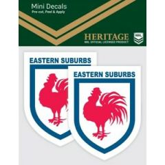 Eastern Suburbs 2 Pack Mini Heritage Decal Stickers
