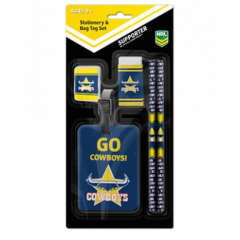 North QLD Cowboys Stationary & Bag Tag Set