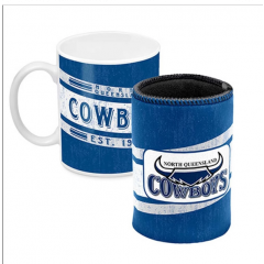 North QLD Cowboys Heritage Mug & Can Cooler Pack