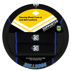 Canterbury Bulldogs Steering Wheel Cover Set