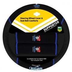 Newcastle Knights Steering Wheel Cover Set