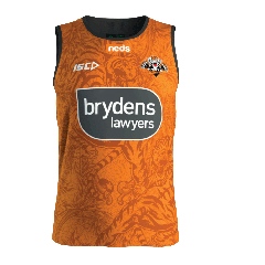 2020 Wests Tigers ADULTS Orange Training Singlet