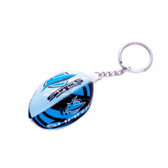 Cronulla Sharks Squishy Football Keyring