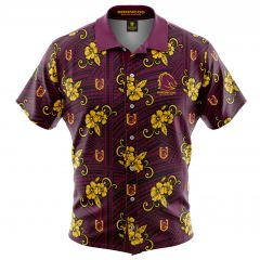 Brisbane Broncos Tribal Button Up Shirt