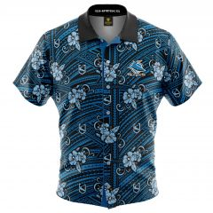 Cronulla Sharks Tribal Button Up Shirt