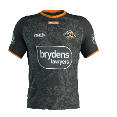 2020 Wests Tigers ADULTS Black Training Tee