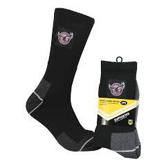 Manly Sea Eagles Work Socks (2 PACK)