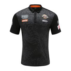 2020 Wests Tigers ADULTS Pattern Black Polo