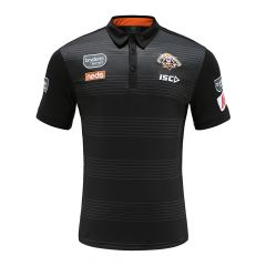 2020 Wests Tigers ADULTS Black Polo