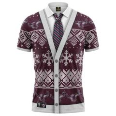 Manly Sea Eagles ADULTS Xmas Polo Shirt