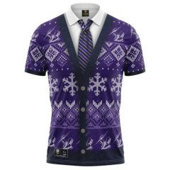 Melbourne Storm ADULTS Xmas Polo Shirt